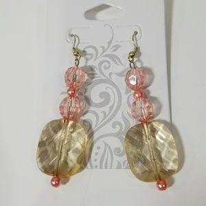 Beige/Pink Earrings